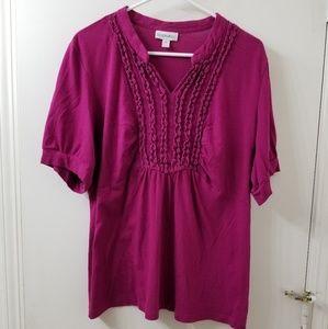 Fashion bug pink 1x blouse.